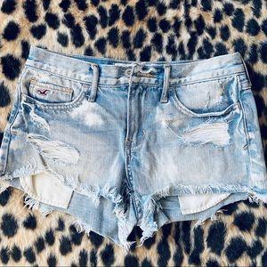 Hollister bleached shorts